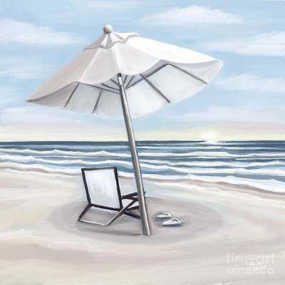 Rusty Trucks - Just the Umbrella the Beach and Me by Elizabeth Robinette Tyndall
