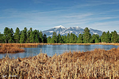 Photograph - Kachina Wetlands and San Francisco Peaks by Jeff Goulden