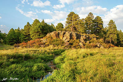 Photograph - Kaibab Limestone Formation Along the Rio de Flag by Jeff Goulden
