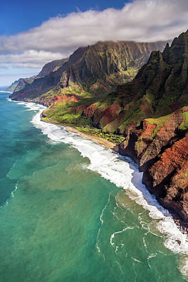 David Bowie Royalty Free Images - Kalalau Beach Kauai Royalty-Free Image by Pierre Leclerc Photography