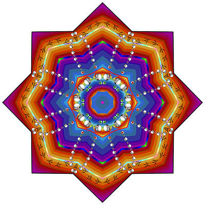 Digital Art - Kaleidoscope 3621 by Brian Gryphon