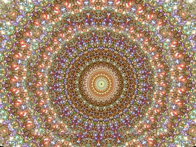Mixed Media Royalty Free Images - Kaleidoscope Glittering Royalty-Free Image by Belinda Threeths