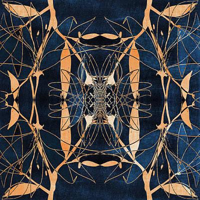 Surrealism Digital Art Rights Managed Images - Kaleidoscopic Dark Abstract 2 Royalty-Free Image by Studio Grafiikka