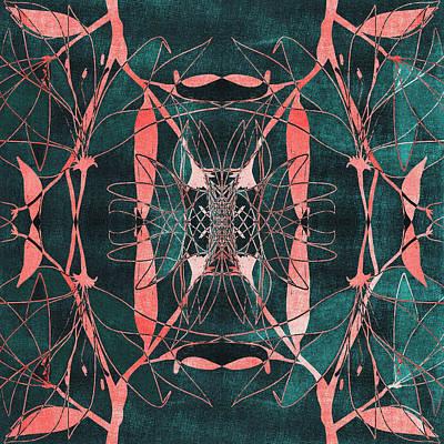Surrealism Digital Art Rights Managed Images - Kaleidoscopic Dark Abstract 3 Royalty-Free Image by Studio Grafiikka