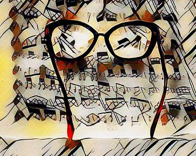 Music Royalty-Free and Rights-Managed Images - Kandinskycalia - Sheet Music And Spectacles L B by Gert J Rheeders
