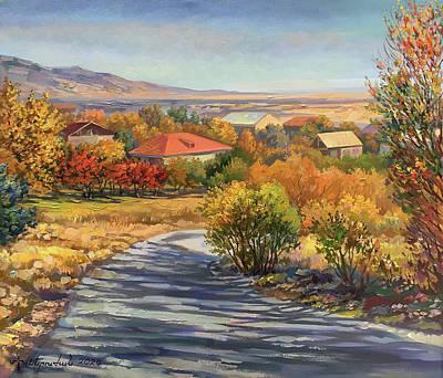 Painting - Karbi village in Astarak by Meruzhan Khachatryan