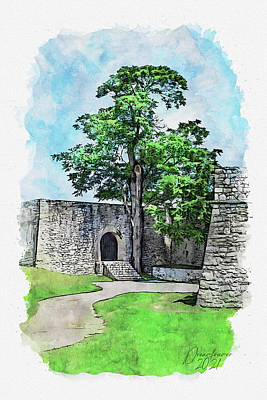 Painting - Kastel Fortress by Dreamframer Art