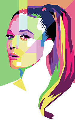 Music Figurative Potraits - Katty Perry 1 Wpap Pop Art by Ahmad Nusyirwan