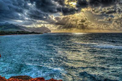 Angels And Cherubs - Kauai Sunrise Stairways Hawaiian Seascape Landscape Art by Reid Callaway