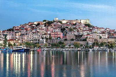 Photograph - Kavala's Harbor view by Elias Pentikis