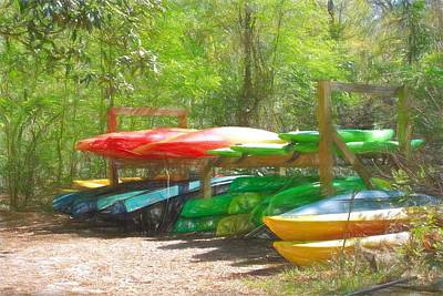 Rights Managed Images - Kayaks and Canoes Royalty-Free Image by David Beard