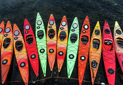 Studio Graphika Literature - Kayaks on Rockport Harbor MA by Michael Saunders