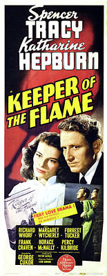 Outdoor Graphic Tees - Keeper of the Flame, with Spencer Tracy and Katharine Hepburn, 1942 by Stars on Art