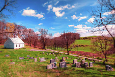 Design Turnpike Vintage Farmouse - Kellys Chapel Church And Cemetery by Jim Love