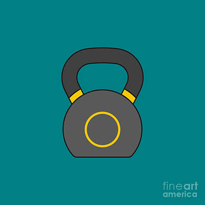 Royalty-Free and Rights-Managed Images - Kettlebell Vector by THP Creative