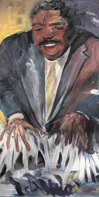 Painting - Keyed Into Jazz by Jude Lobe