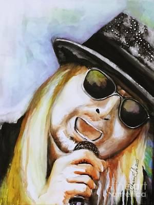 Music Paintings - Kid Rock by Chrisann Ellis