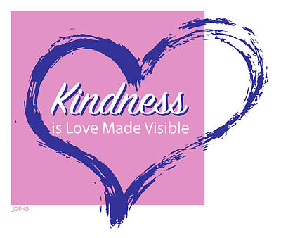 Drawings Royalty Free Images - Kindness is Love Royalty-Free Image by Greg Joens