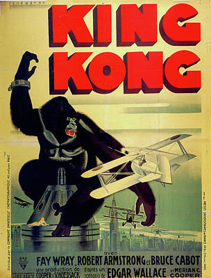 Royalty-Free and Rights-Managed Images - King Kong movie poster 1933 by Stars on Art