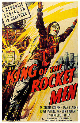 Royalty-Free and Rights-Managed Images - King of the Rocket Men movie poster 1949 by Stars on Art