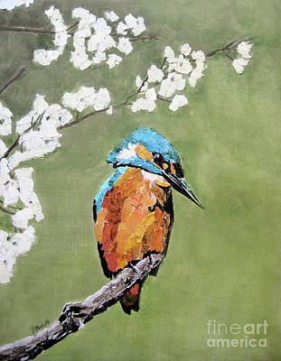 Painting - Kingfisher II by Diane Marcotte