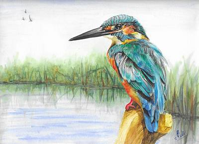 Painting - Kingfisher by Swati Singh
