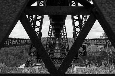 Abstract Trees Mandy Budan - Kinzua Bridge Perspective by Michael Hills