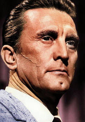 Coy Fish Michael Creese Paintings - Kirk Douglas colorized by Stars on Art