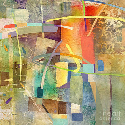 Abstract Oil Paintings Color Pattern And Texture - Kismet-Yellow by Hailey E Herrera