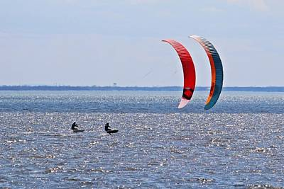 Sports Royalty-Free and Rights-Managed Images - Kitesurfing Montreal by Marlin and Laura Hum