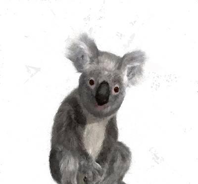 Animals Drawings - Koala Bear Marsupial Animal Childs Room  by David Dehner
