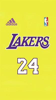 Sports Royalty-Free and Rights-Managed Images - Kobe Bryant Laker jersey number  by Michael Stout