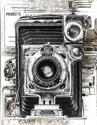 World War 2 Action Photography Royalty Free Images - Kodak No. 1 Premoette Junior - Monochromatic Royalty-Free Image by Anthony Ellis
