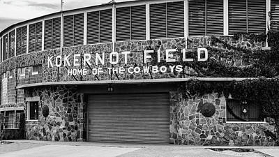 Audrey Hepburn - Kokernot Field - Home of the Cowboys by Stephen Stookey