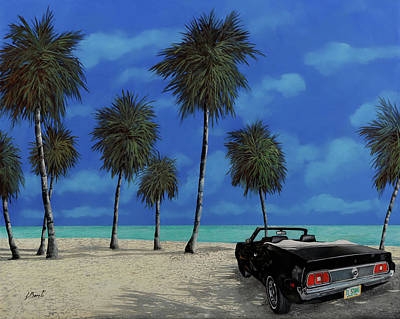 Royalty-Free and Rights-Managed Images - Kools car by the beach by Guido Borelli