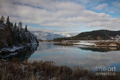 Typography Tees - Kootenai River Reflections by Idaho Scenic Images Linda Lantzy