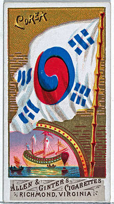Womens Empowerment - Korea from Flags of All Nations Series 1 N9 for Allen and Ginter Cigarettes Brands by Artistic Rifki