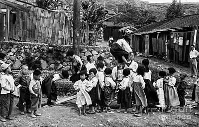Anchor Down - Korean War - Children at Play by Robert McAlpine