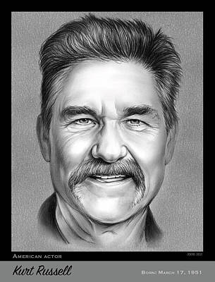 Royalty-Free and Rights-Managed Images - Kurt Russell - pencil by Greg Joens