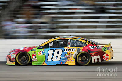 Sports Royalty-Free and Rights-Managed Images - Kyle Busch at Speed by Paul Quinn