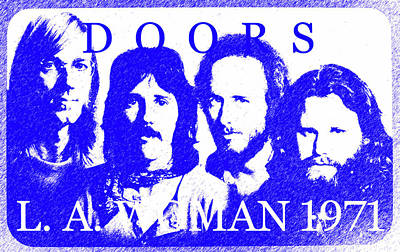 Royalty-Free and Rights-Managed Images - L A Woman 1971 the Doors by David Lee Thompson