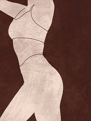 Royalty-Free and Rights-Managed Images - Aesthetique - Female Figure - Minimal Contemporary Abstract 01 by Studio Grafiikka