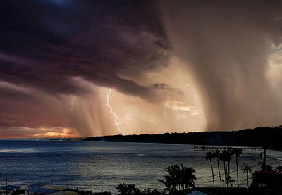 Photograph - La Jolla Lightning and Rain Clouds by Russ Harris