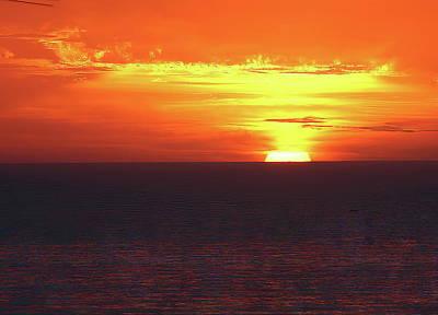 Angels And Cherubs - La Jolla Sunset - Orange Skies by Russ Harris