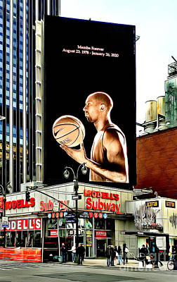 Photograph - LA Lakers Kobe Bryant Mamba Forever Tribute Billboard 1 by Nishanth Gopinathan