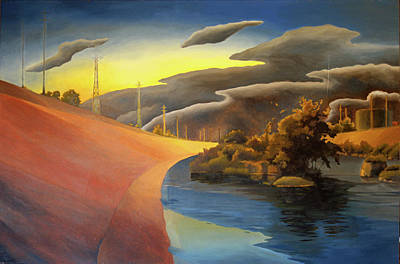 Surrealism Royalty-Free and Rights-Managed Images - L.A. River by Thu Nguyen