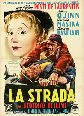 Royalty-Free and Rights-Managed Images - La Strada,. with Anthony Quinn, 1954 by Stars on Art
