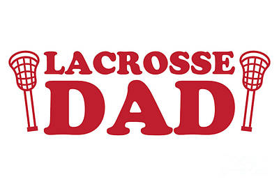 Royalty-Free and Rights-Managed Images - Lacrosse Dad Red by College Mascot Designs