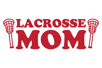 Pop Art - Lacrosse Mom Red by College Mascot Designs