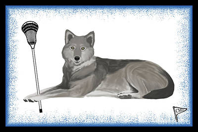 From The Kitchen - Lacrosse Wolf Blue by College Mascot Designs